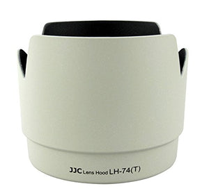 JJC LH-74T Lens Hood Replacement for CANON ET-74 /  EF 70-200mm f/4L IS USM Lens (white)