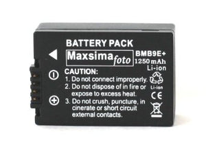 Maxsimafoto - DMW-BMB9, BMB9e, 1250mAh replacement Battery for Panasonic Lumix