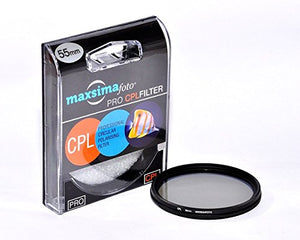 Maxsimafoto - Professional Slim 55mm CPL (Circular Polarizing) Filter