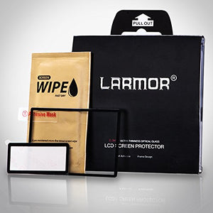 LARMOR LCD Screen Protector for Nikon D5 – LCD Real Glass Protector, 6 Layer Technology.