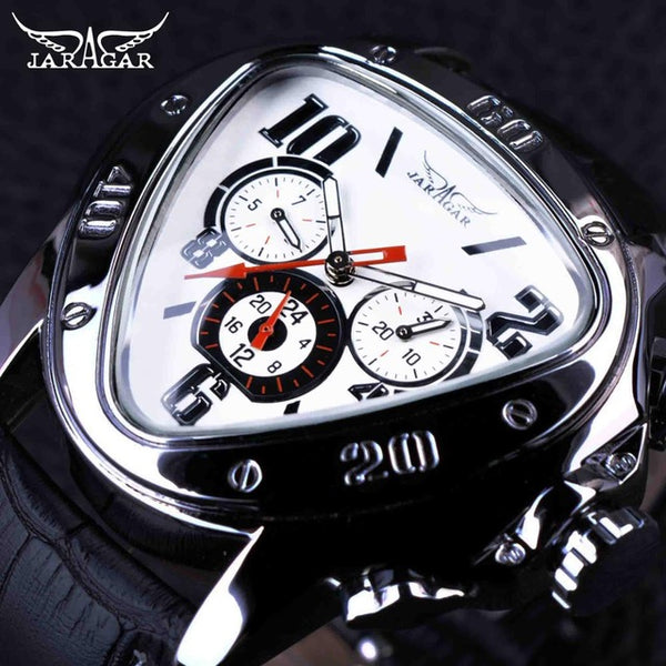 New Men's Fashion Collection Accessories Genuine Leather Race Sport Triangle Watches