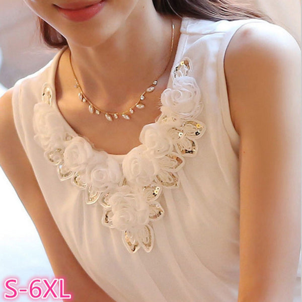 New Fashion Collection Elegant White Black Crochet Lace Top