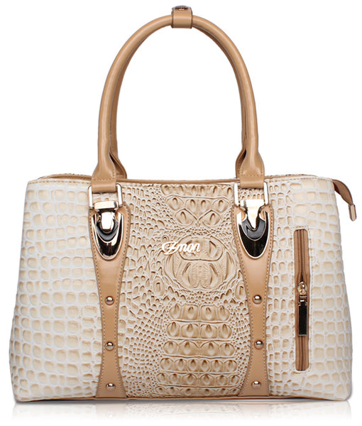 New Luxury  Designer Collection Crocodile Leather Tote Handbag