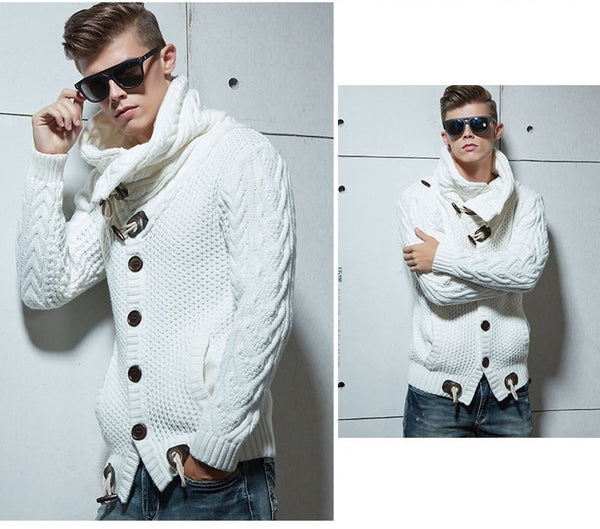 New Men's Fashion Collection England Style Casual Wool Sweater