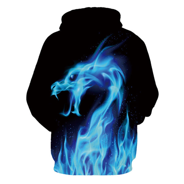 New Mens Fashion Collection Hoodies 3D Print Dragon Style