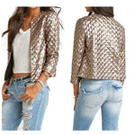 New Fashion Golden Sequins Ladies Short Jacket