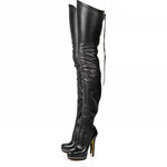 New Winter Collection Sexy Fixation Black High Heels Boots