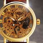 New Men's Fashion Collection Accessories Luxury Ultra Thin Leather Mechanical Watch