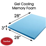 "28"" x 28"" Gel Memory Foam Square"