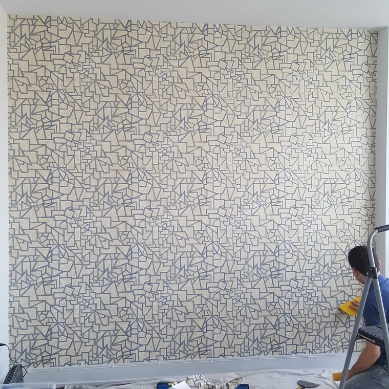 Toronto Wallpaper Mural Wallcovering Installation Grasscloth Cork Mica Textured Natural Vinyl Prepasted Pattern Bold Children Nursery Custom Digital