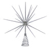 Silver Burst Tree Topper with Spikes