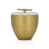 Frasier Fir Candle Gold Metal Vessel with Lid