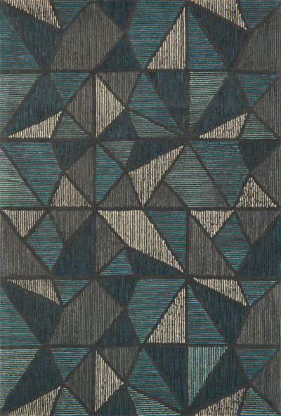 Teal / Grey - Gemology Rug