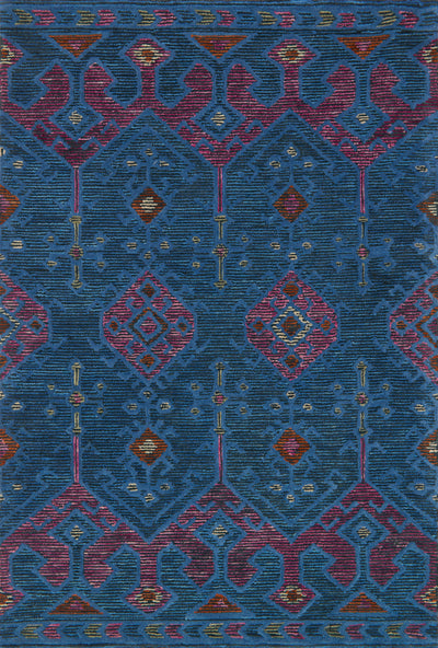 Blue / Plum - Gemology Rug