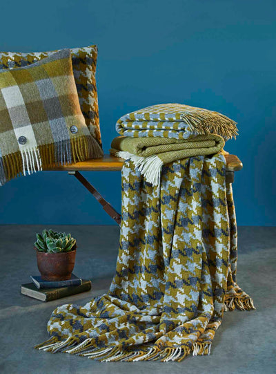 Gold and Grey Throw