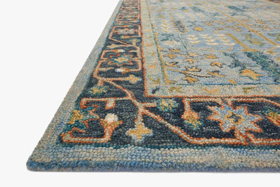 Light and Dark Blue- Victoria Rug