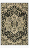 Charcoal / Light Grey- Victoria Rug