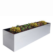 Madeira trough planter for succulents 3 feet long metal aluminum