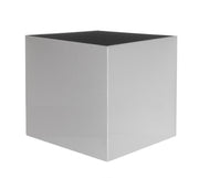 NMN Designs - Madeira Cube Planter - Brushed Metal Finish - Indoor, Outdoor Cube Planter