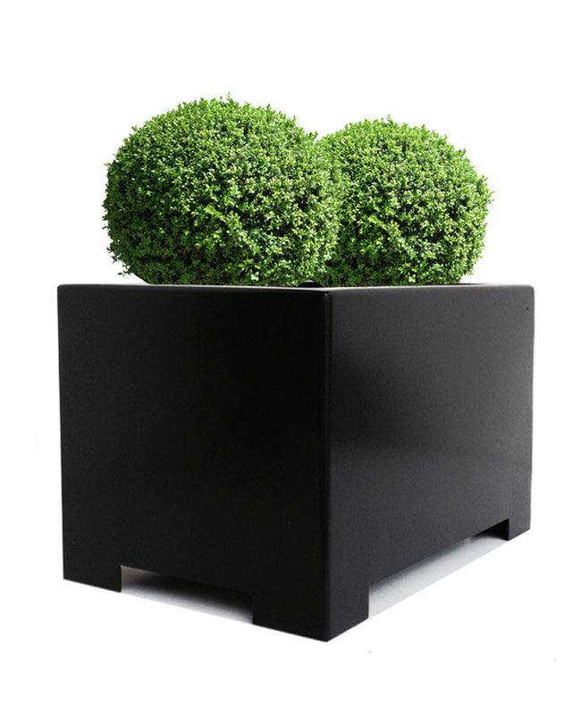 Alora Black Rectangle Planter - Architectural Planters - Modern Indoor and Outdoor Planter Box