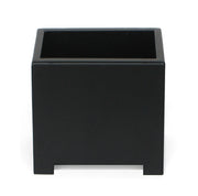 Alora cube planter in black