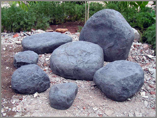Graybear Artificial Rock Set 7 Piece - Faux Rock, Stone Set for Commercial, Residential Use NMN Designs