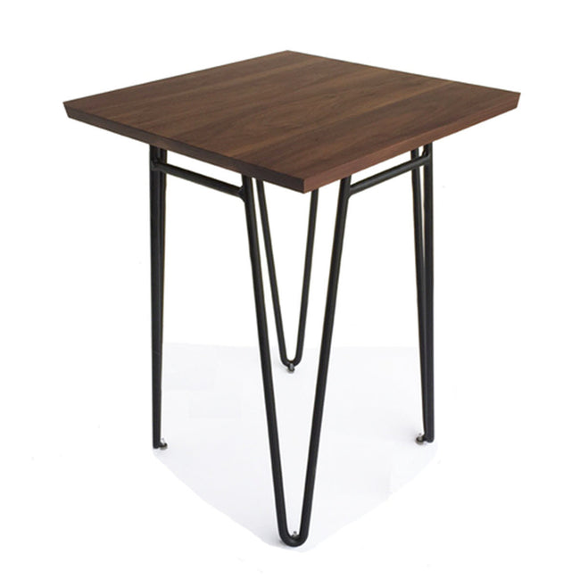NMN Designs Ciocco Modern End Table Black Walnut Top