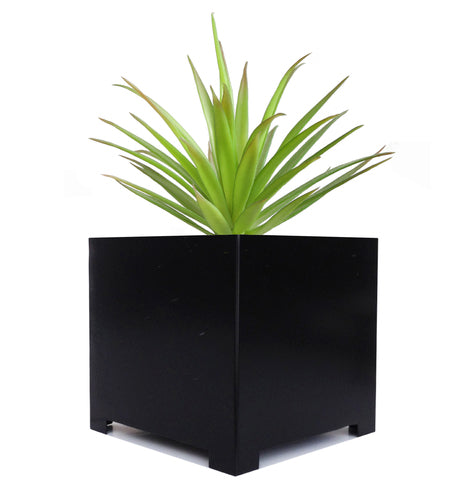 Alora Cube Planter - Minimalist, Modern Indoor and Outdoor Planter Box in Black
