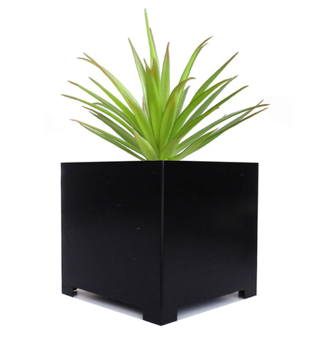 White Knox Cylinder Planter with Stand