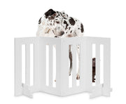 NMN Designs - Backyard Dog Outdoor Pet Gate Barrier in White