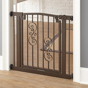 Noblesse Dog Gate Tension Mount with Swinging Door