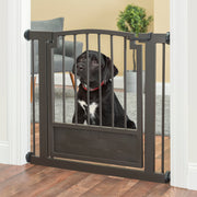 NMN Designs Royal Weave Dog Gate Pet Barrier Expandable Pressure Mounted