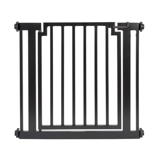 Libro outdoor dog gate door expandable pressure mounted dog gate pet barrier in black NMN Designs