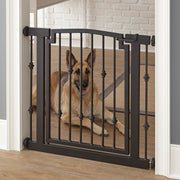 Emperor Rings dog gate extra tall for large dogs. Shown German Shepard.