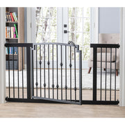 Extra Wide Designer Dog Gate Heavy Duty Emperor Rings NMN Designs