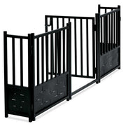NMN Designs - Royal Weave Freestanding Gate Set - Expanding Pet Barrier for Hallways, Doorways, Base of Staircase, Metal, Black and White