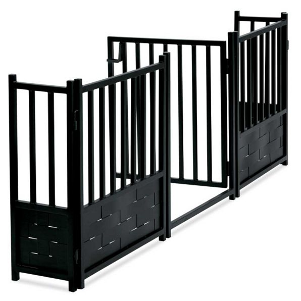 Wrought Iron Gates And Steel Barriers: Royal Weave Dog Gate With Door - NMN Designs