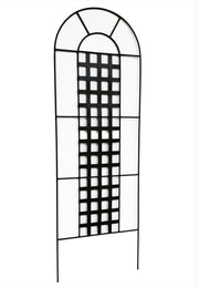 Chaucer Garden Trellis by NMN Designs - Tall, Lawn Trellis in Black perfect for flowers and vine plants