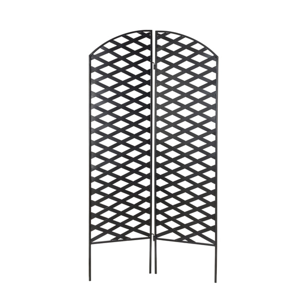 Camper Garden Screen Outdoor Plant Trellis by NMN Designs - Two Piece Folding Privacy Screen Great for Patio