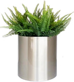 Knox Stainless Steel Pot Planter Brushed Metal Finish
