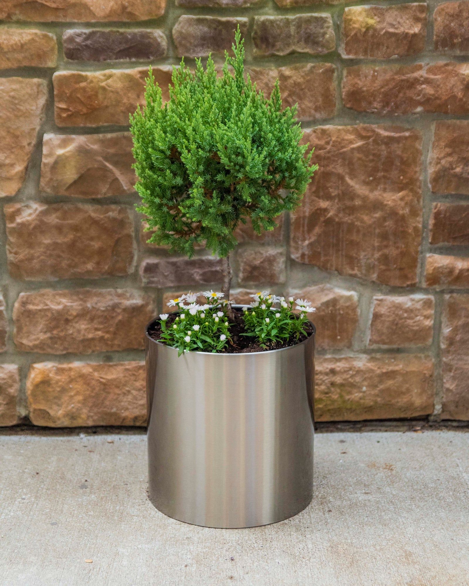 Knox Stainless Steel Planter Pot Nmn Designs Classic Brushed