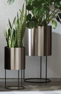 Knox Stainless Steel Pot Planter with Base