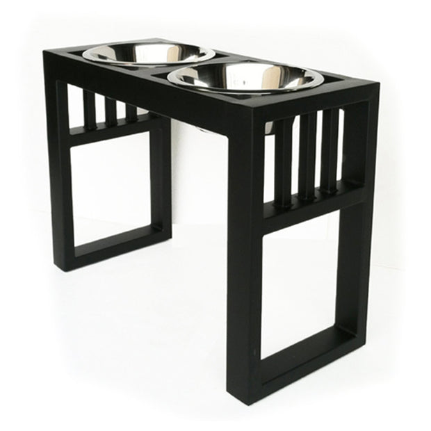 NMN Designs Libro Elevated Dog Bowl Raised Diner Black  for Giant dogs great danes
