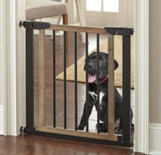 NMN Designs Logan Dog Gate Pressure Mounted Expandable Pet Barrier Gate Indoor