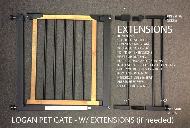 Installation Instructions for Logan and Palmer Dog Gates