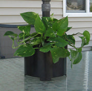 umbrella pole wrap around planter in black