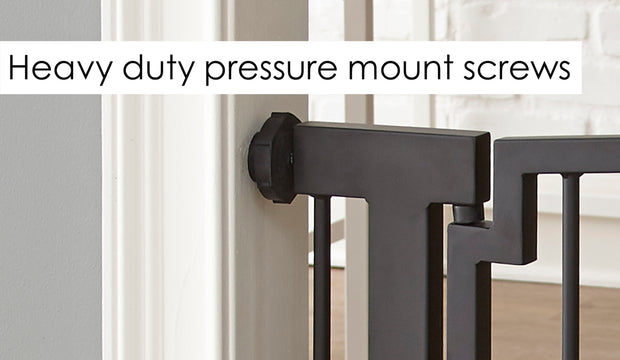 Noblesse dog gate pressure mount easily attatch to wall