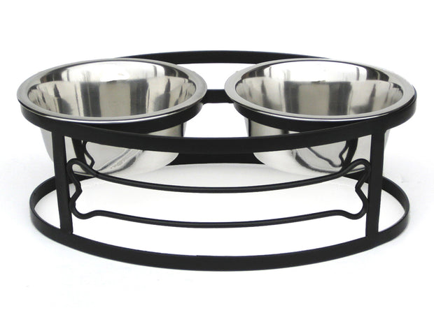 NMN Designs Bone Double Bowl Dog Diner
