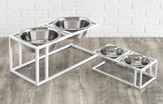 Cityline modern raised dog bowls for small and large dogs