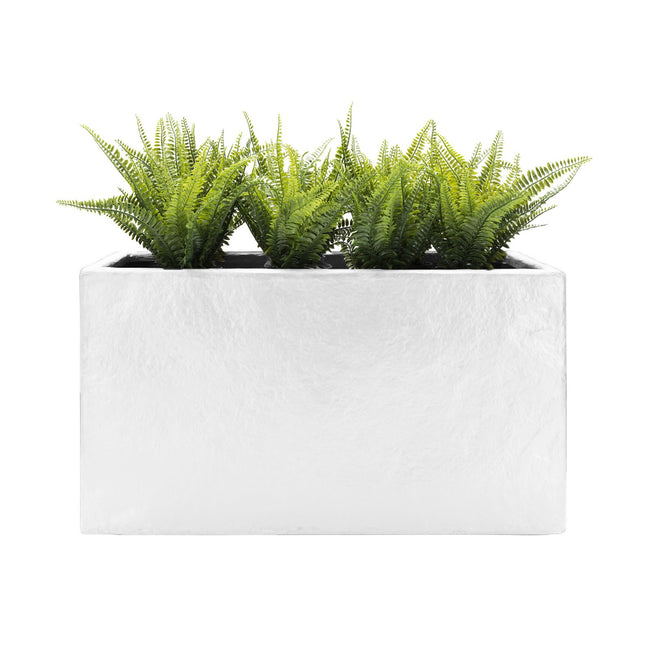 NMN Desgins Thomas White Planter Rectangle Concrete Finish